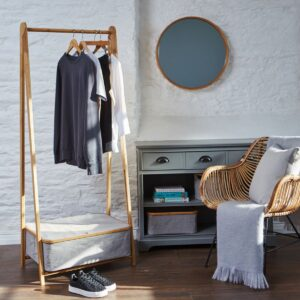 Bamboo clothing rack